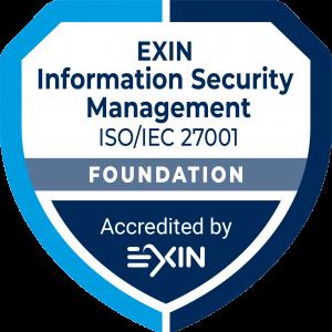 Accreditation Logo Own_ISFS_EXIN_AccreditationBadge_ModuleFoundation_InformationSM_ISO