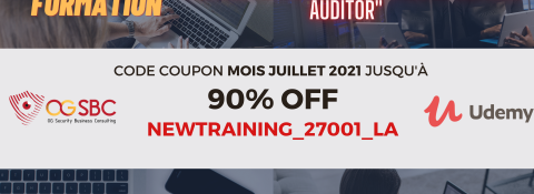"""Nouvelle formation Udemy """"Se préparer à la certification ISO 27001 LEAD AUDITOR"""" + PROMO lancement à 12,99€ !"""